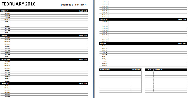 Planner Template Word planner template free - microsoft office agenda templates