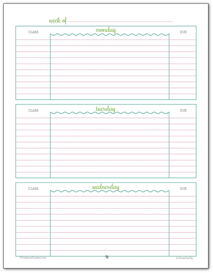 Student Planner Template planner template free