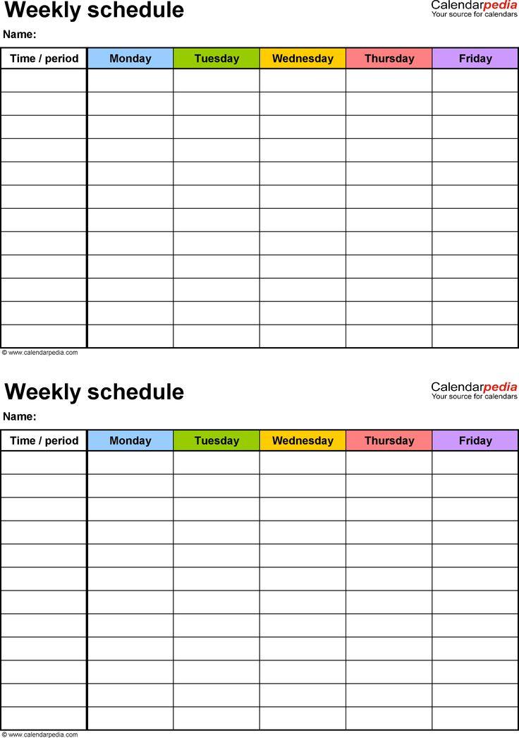 7 day schedule maker