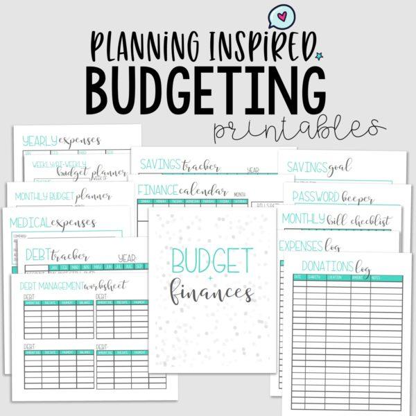Printable Budget Worksheet Sets - Planning Inspired
