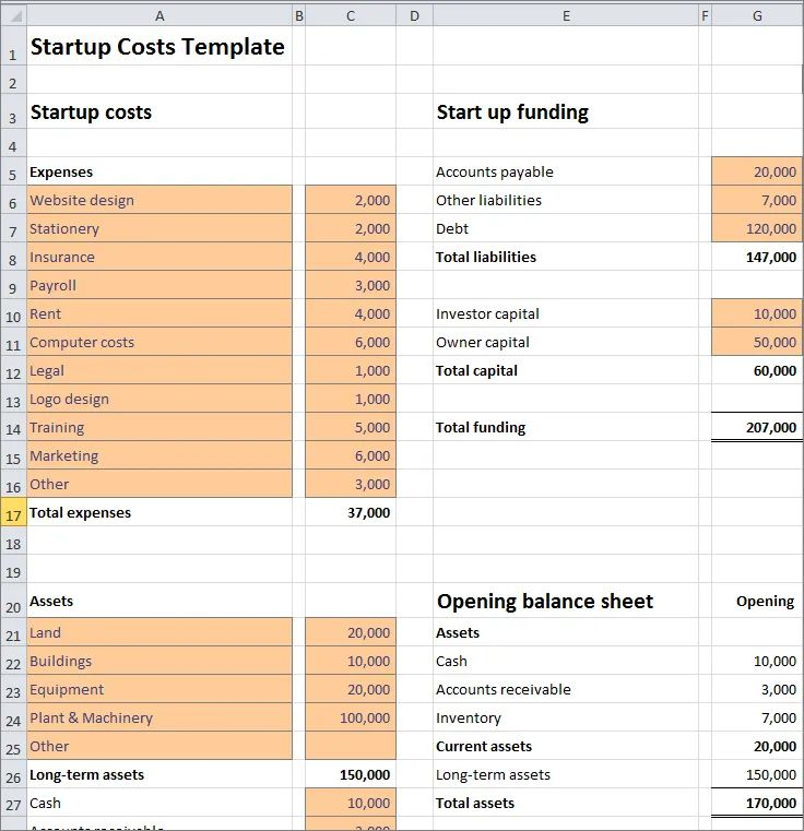 start up expenses