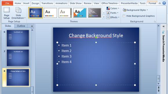 Cambiar El Estilo De Fondo De Presentaciones PowerPoint - presentaciones powepoint