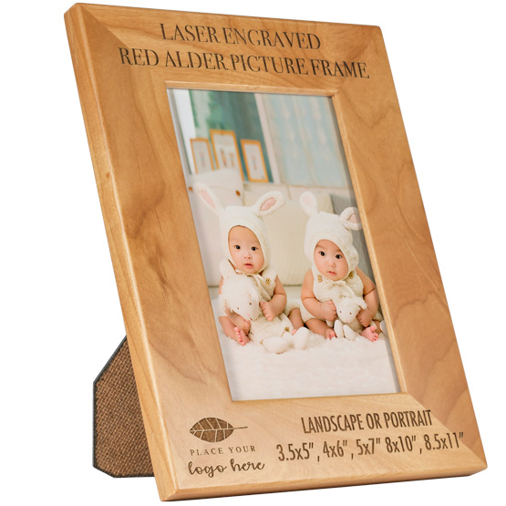 Personalized Red Alder Picture Frame PlaqueMaker