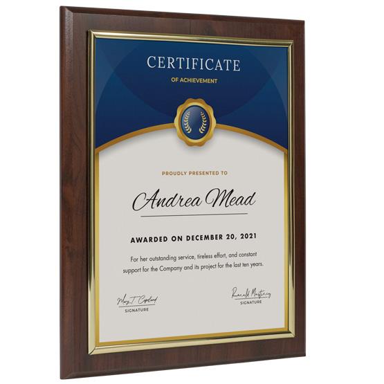 Wood Slide-In Certificate Plaque Frame Kits - PlaqueMaker