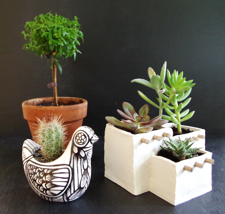Adobe House Planter out of Oven Bake Clay  - Plaster & Disaster