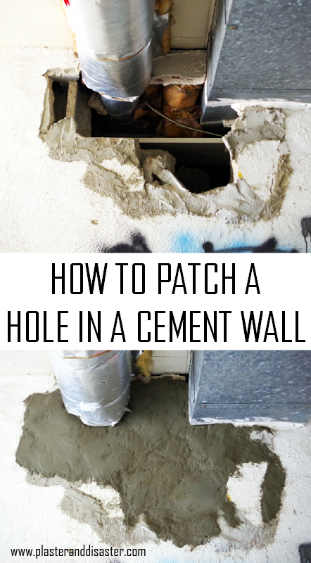 Hole In Concrete Wall : How to fix a big hole in cement wall plaster disaster
