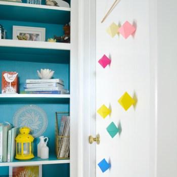 Colorful modern door hanger -- Plaster & Disaster