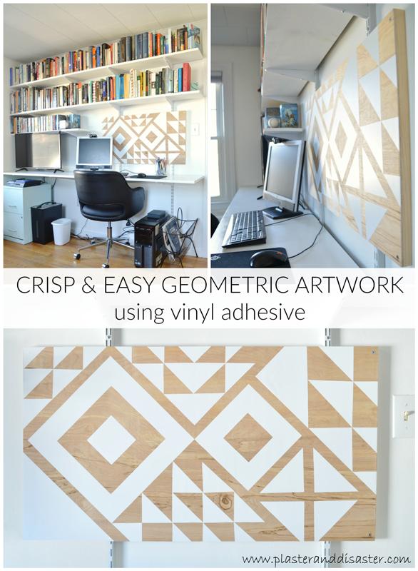 Geometric artwork with vinyl adhesive -- Plaster & Disaster