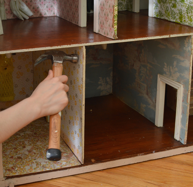 Dollhouse wall removal -- Plaster & Disaster