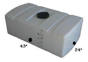 50 Gallon Plastic Square Portable Utility Tank