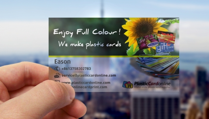 Clear plastic card printing