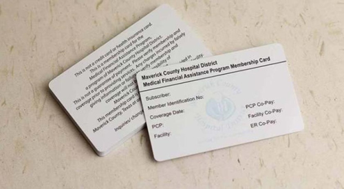 Printable plastic card