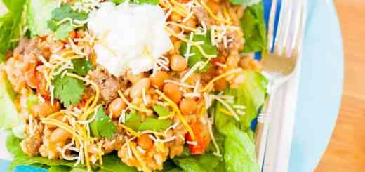 Mexican Bean and Rice Casserole Salad - www.platingpixels.com