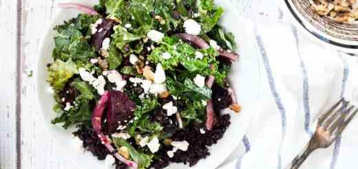 Kale, Roasted Beet and Black Rice Salad recipe - www.platingpixels.com