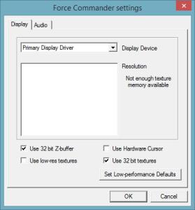 force-commander-settings