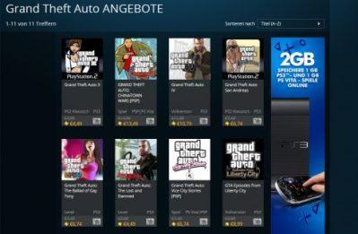 GTA-Angebote ab heute im PlayStation Store verfügbar - play3.de