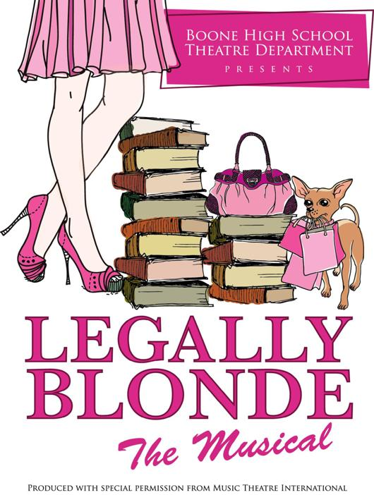 Legally Blonde The Musical at Boone High School - Performances March
