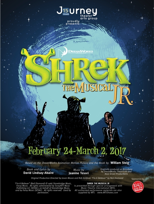 Shrek The Musical Jr at Journey Theater Arts Group - Performances