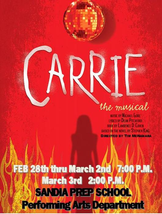 Carrie the Musical at Sandia Preparatory School - Performances