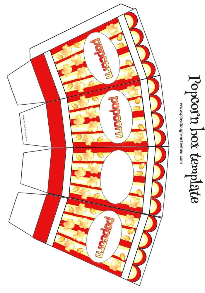 Popcorn box template - small colour template