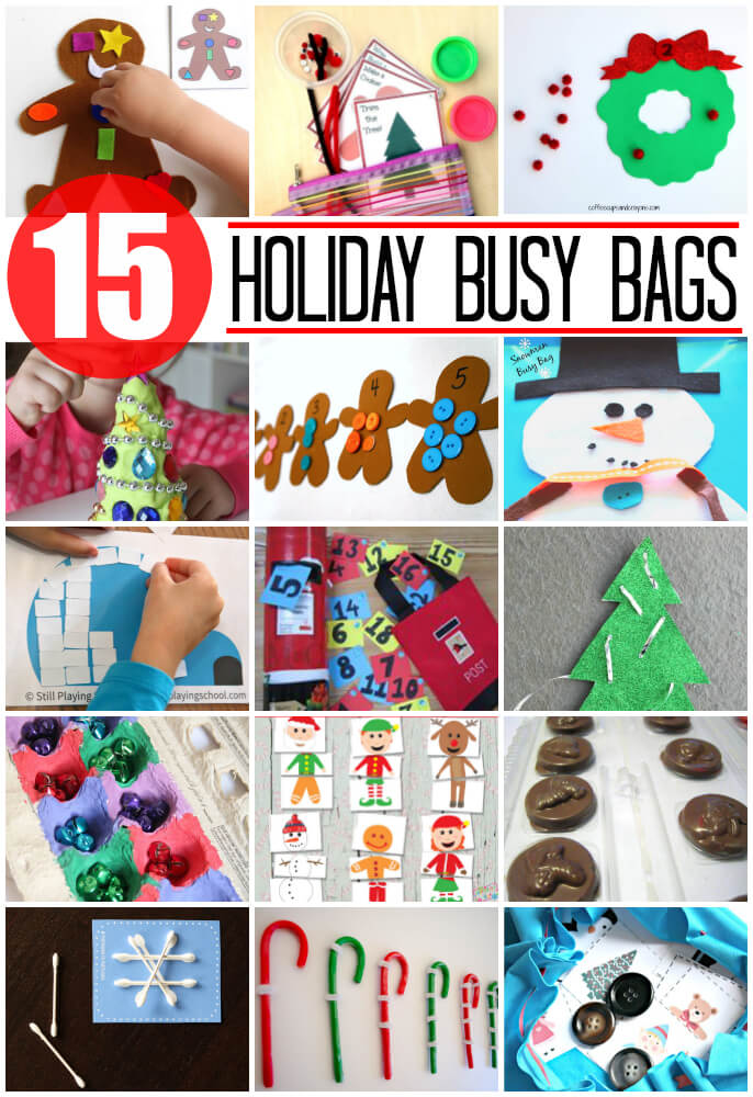 15 Awesome Holiday Busy Bags for Kids.