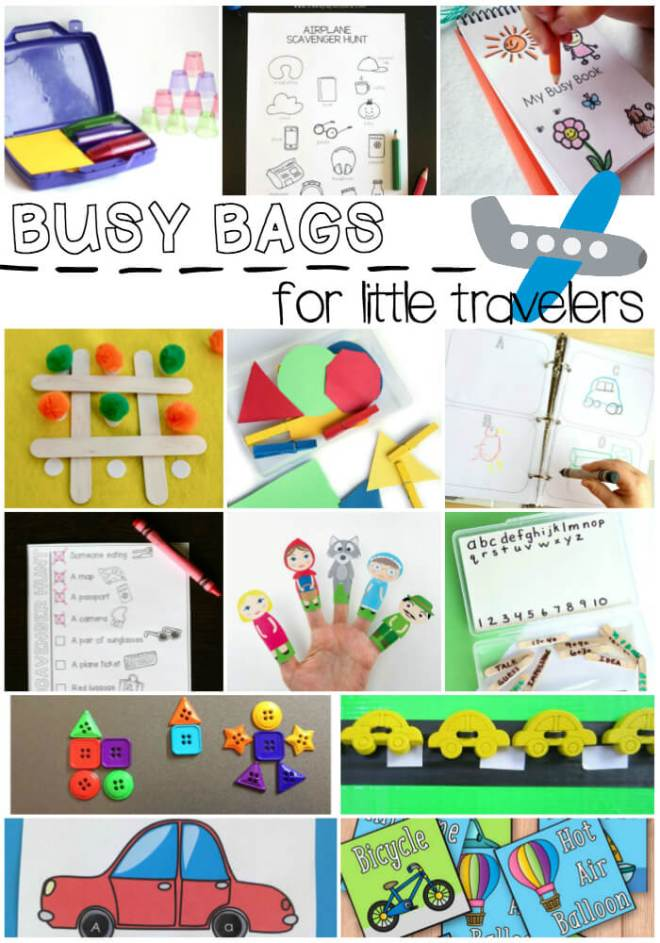 Busy Bags for Little Travelers