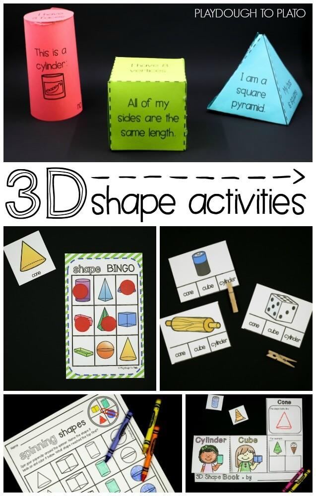 3D Shape Activities - Playdough To Plato