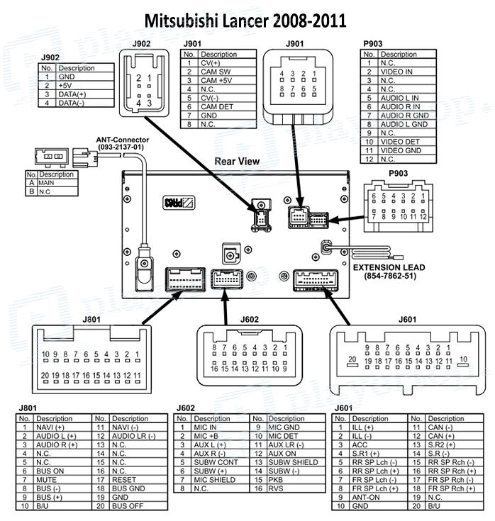 mitsubishi pajero schema cablage for radio