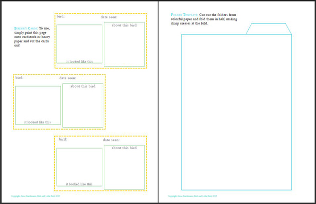 Printable Blank Birder\u0027s Cards \u2013 Playful Learning