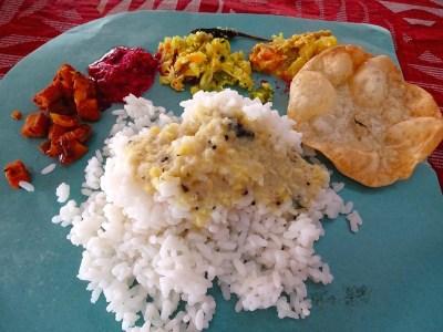 Le Thali, plat de base en Inde