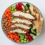 Asian Chicken Salad with Grape Nut Chicken and Homemade Tortilla Strips