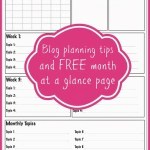 Free Blog Planner Page and Blog Calendar Planning Tips