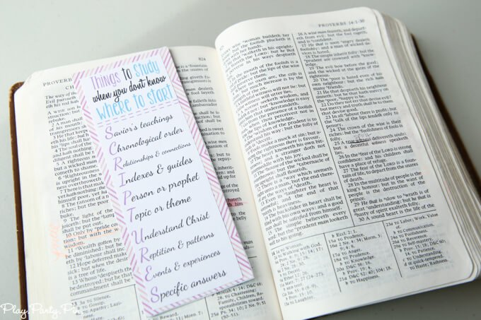 Free Printable Scripture Study Bookmark