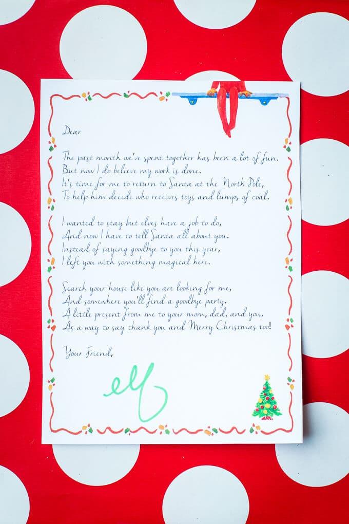 Elf on the Shelf Ideas for Saying Goodbye - PlayPartyPlan