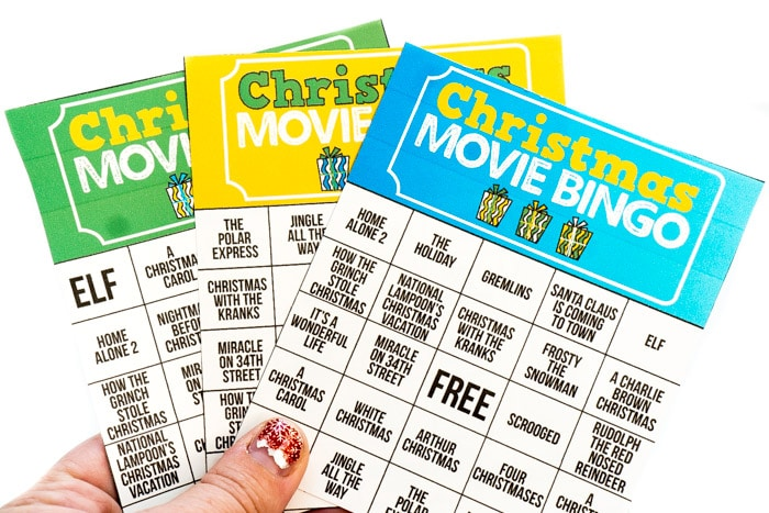 Free Printable Holiday Movie Christmas Bingo Cards - PlayPartyPlan