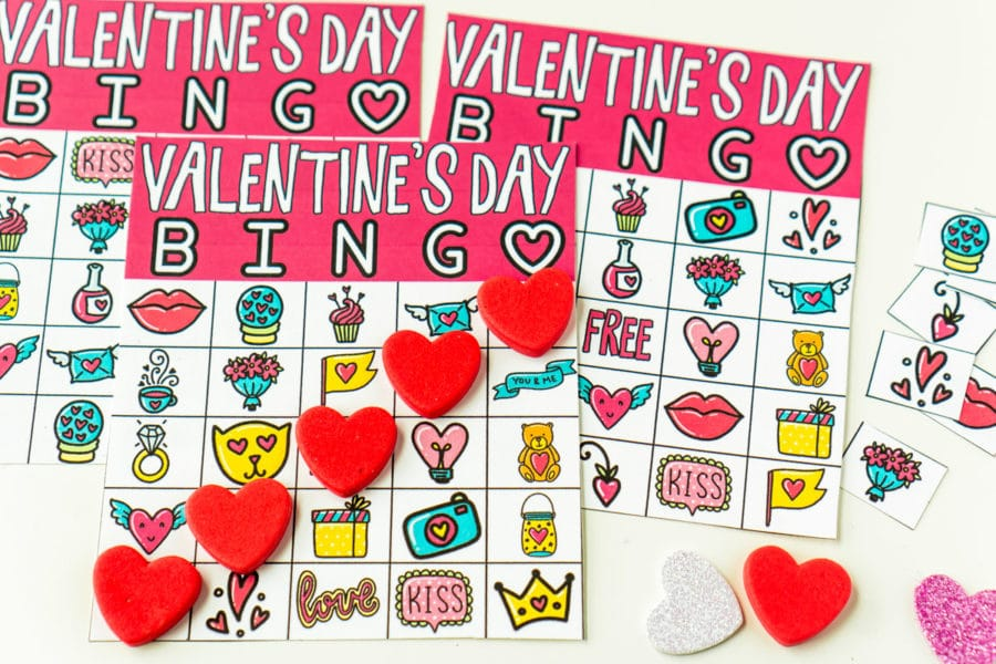 Free Printable Valentine Bingo Cards for All Ages - Play Party Plan