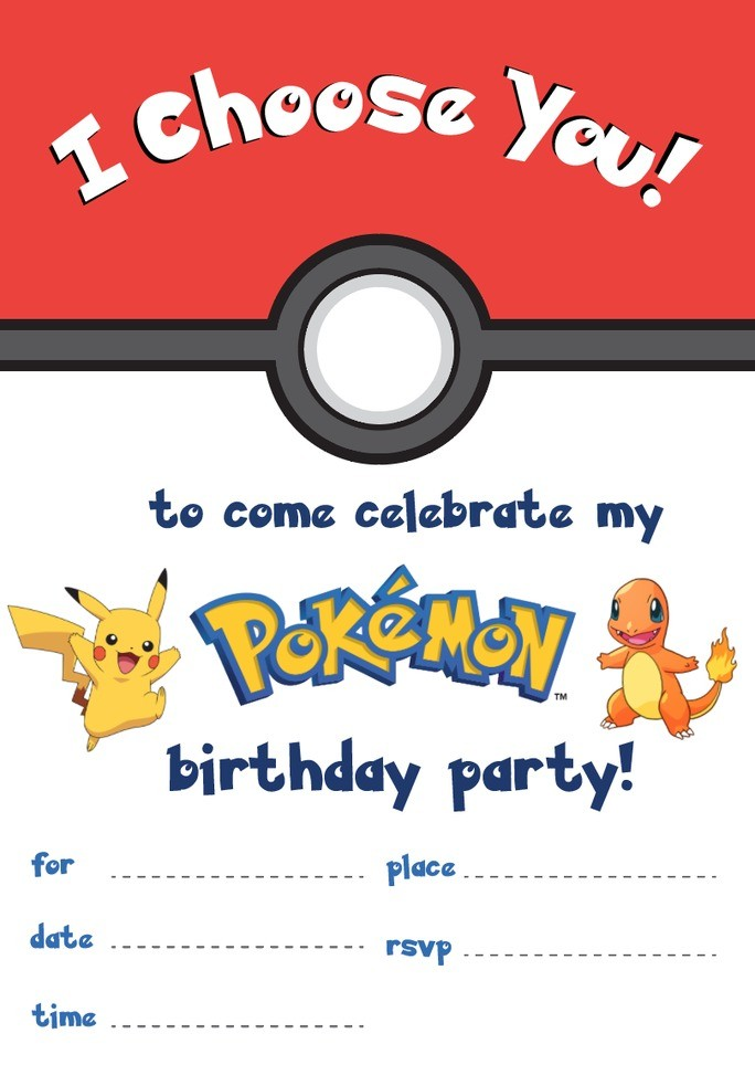 pokemon invites