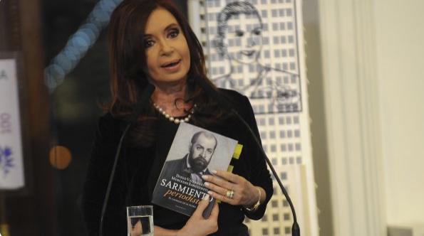 "CFK se refirió al libro ""Sarmiento periodista"". Foto de MinutoUno.com"