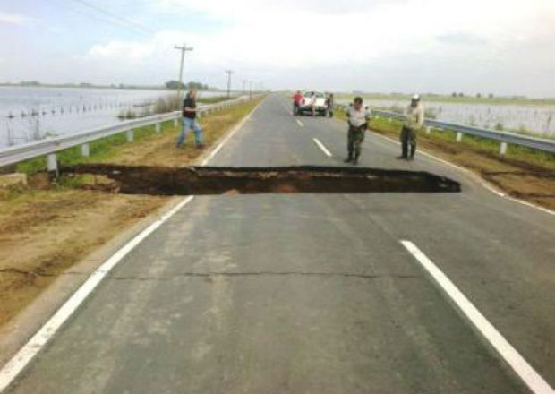 Ruta Néstor Kirchner en General Pinto (BsAs), quebrada a 20 días de inaugurada