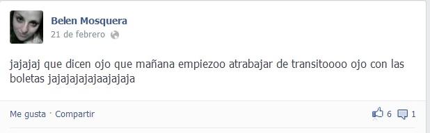 Facebook: Belén Mosquera anuncia que su nuevo trabajo.