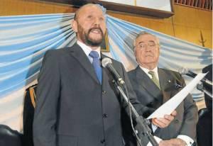 El vice Floro Bogado junto a Gildo Insfrán. Gobiernan desde 1995. En 1983, Bogado fue gobernador.