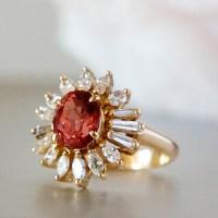Malaya Garnet Diamond Gold Ring - Plaza Jewellery