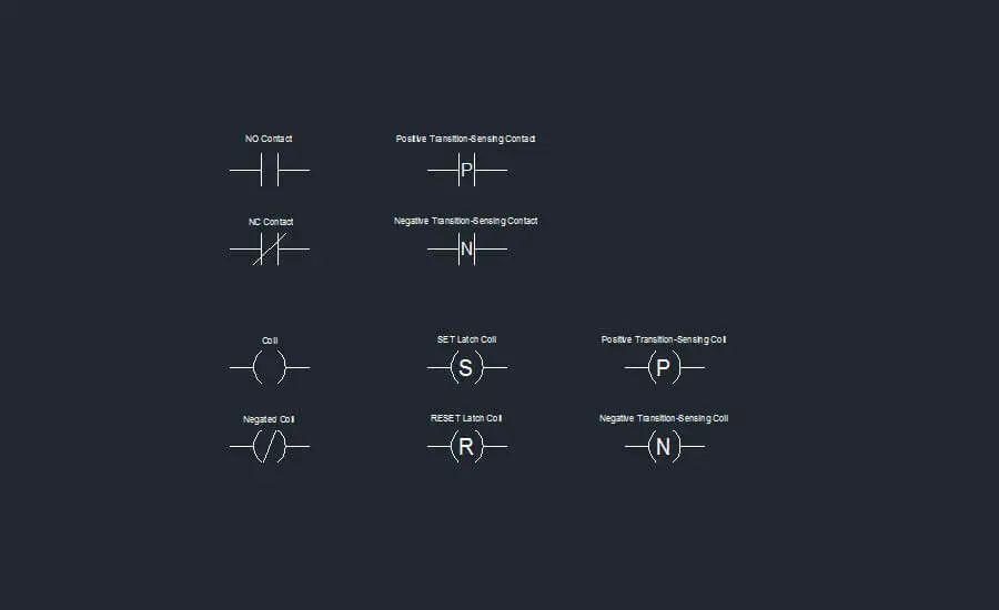 relay logic diagram symbols