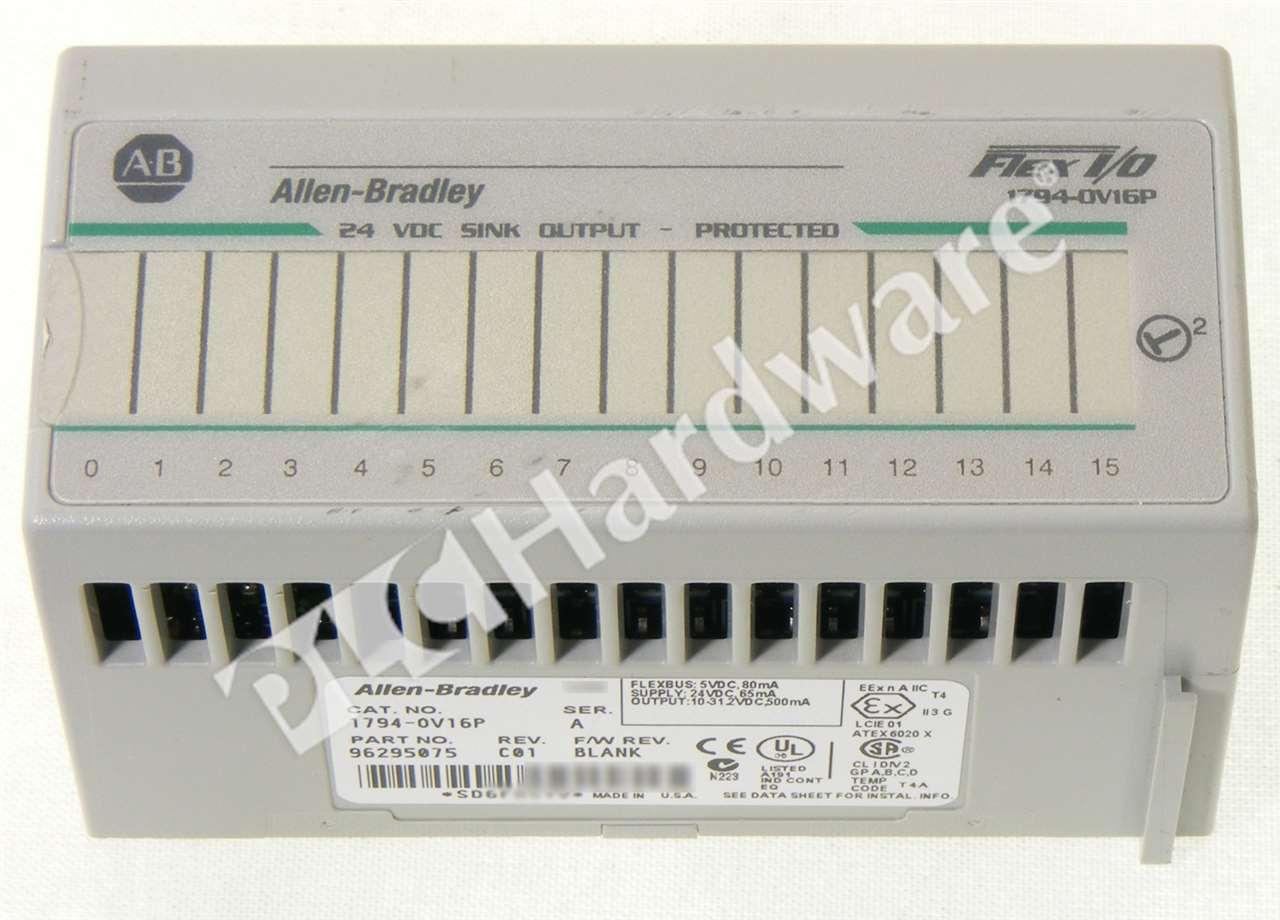 Allen Bradley 1794 Ov16p A Flex Output Module 24v Dc 16