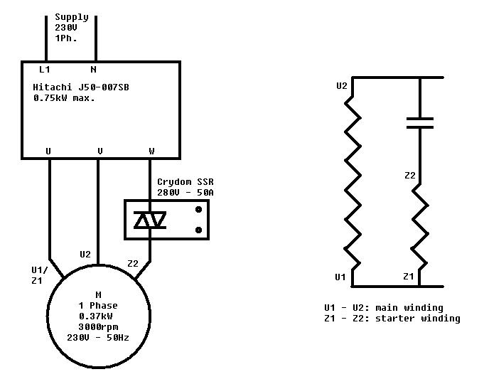 3 wire single phase motor wiring diagram