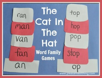 Word family Cat in the Hat game