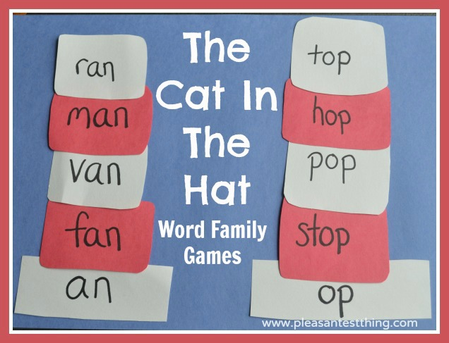 Word Family Games - The Cat in the Hat Activity