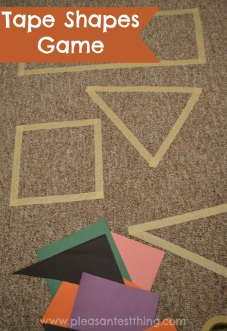 Practice shapes and get the kids moving with this tape shapes game!