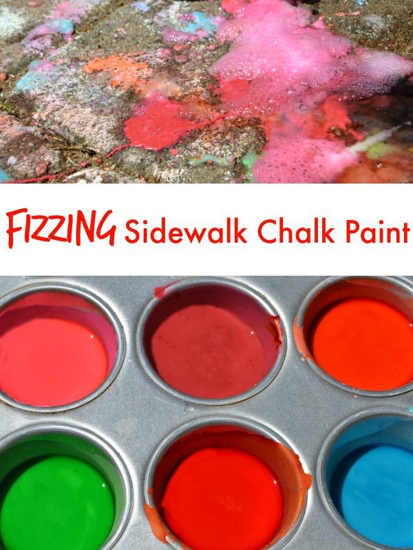 Fizzing Sidewalk Chalk Recipe!  The kids will be amazed!