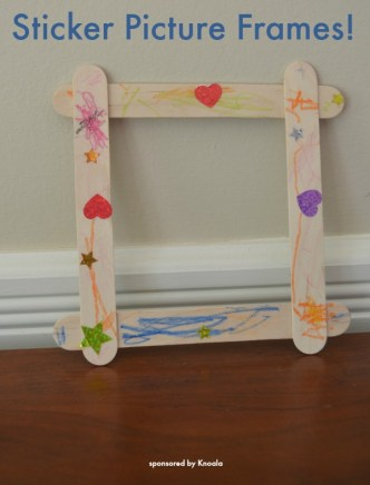 Sticker Picture Frames - EASY toddler craft!